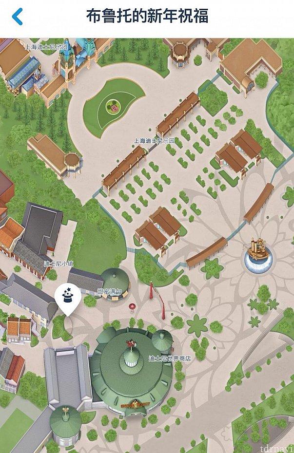 ショーの場所はワールドオブディズニーとレゴの間にあるマーケットプレイスステージです。