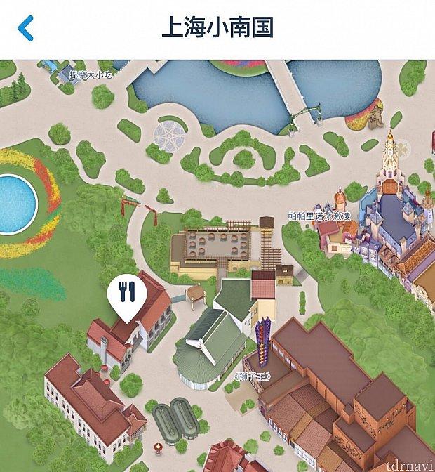 上海小南国はこの辺にあります。