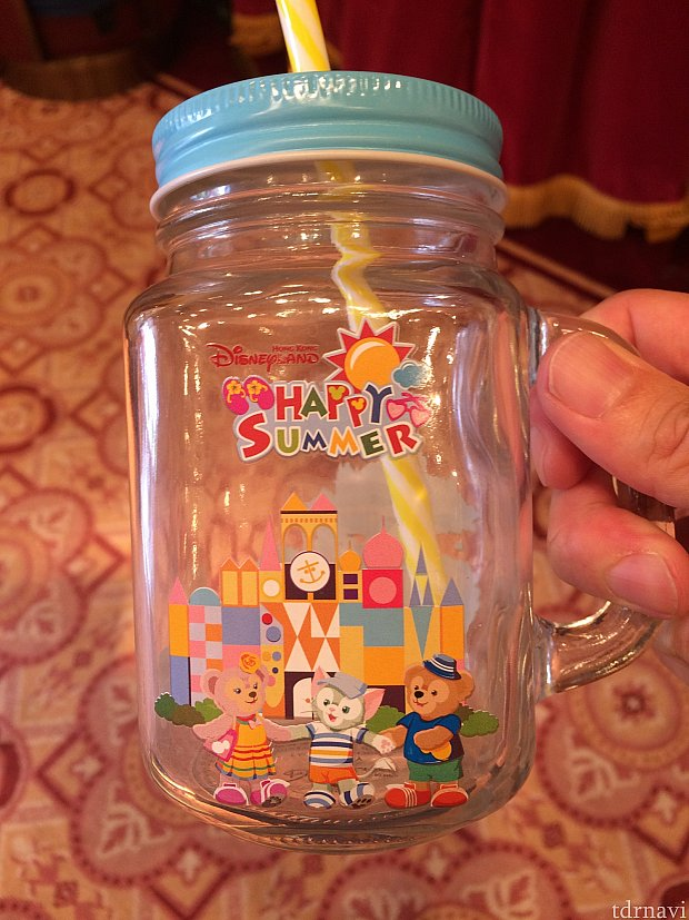 ハッピーサマーガラスのコップ。98香港ドル