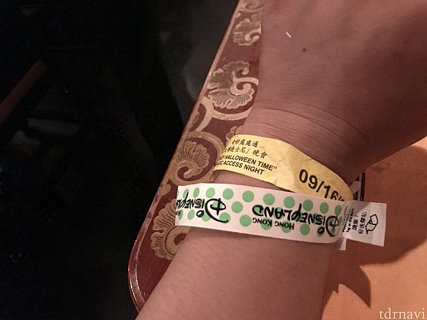 緑水玉の方がこのイベントのリストバンドでした♪