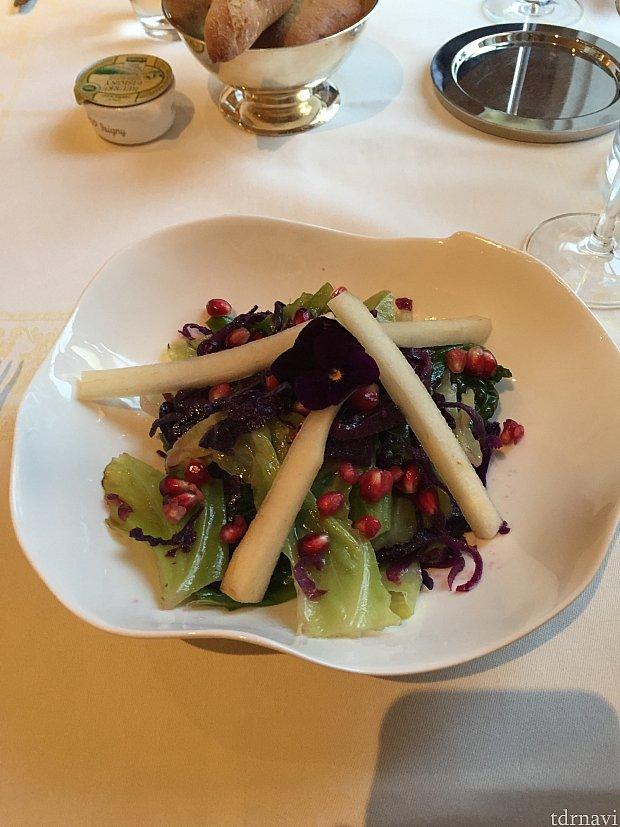 キャベツとケールのサラダ。残しました。