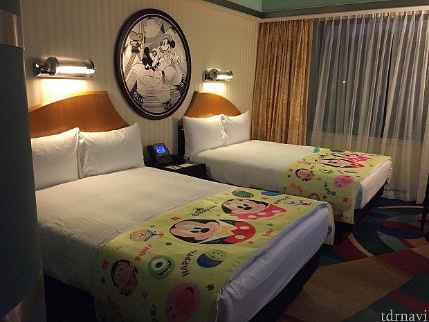 今回宿泊したお部屋です。マジックアクセス特典ということで無料でイースタールームにしてくれました!