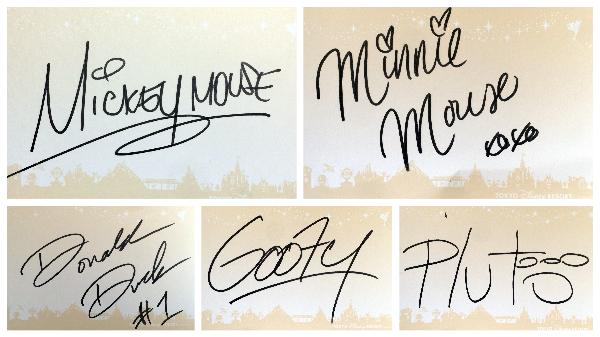 ミッキーたちのサイン。見本として最初に付けておきました。