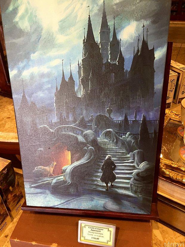 キャンバスアートも販売されています。アートとしてはそれ程大きくもないので、お持ち帰りも可能です。価格は$150。