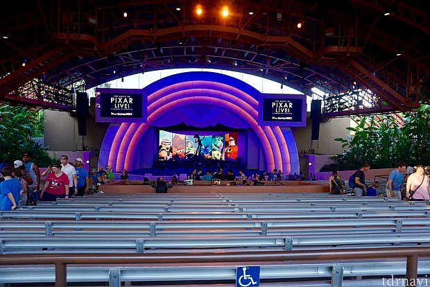 シアター前方のセンターの専用エリアの席が確保できます。とても満足できた席で、オーケストラの迫力が直に伝わって来ました。