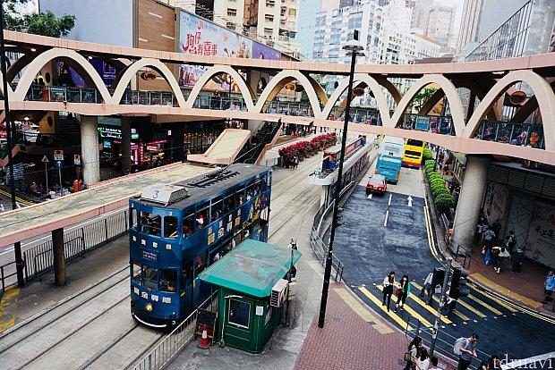 香港島と言えばトラム!見るのも乗るのも楽しかったです。