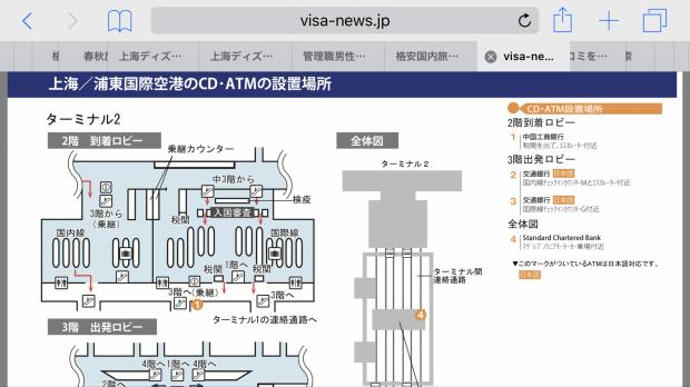 1のATMが、日本語対応でした。