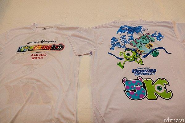 記念のTシャツです。着て走っている人は多かったです。 私はユニクロのTシャツで走ってしまいました。