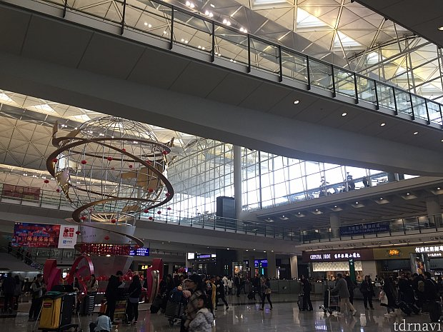 香港空港に到着です!