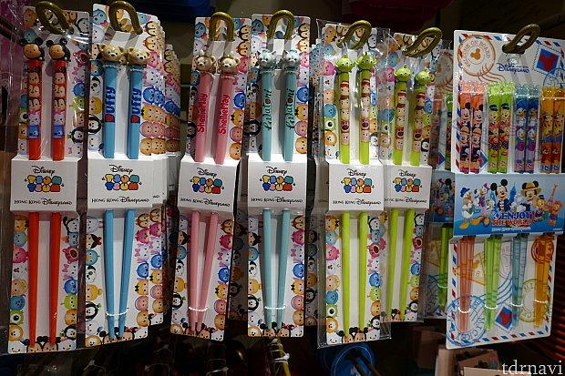 ツムツムのお箸とキャラクターがプリントされたお箸!全種類買わずにはいられません!!!