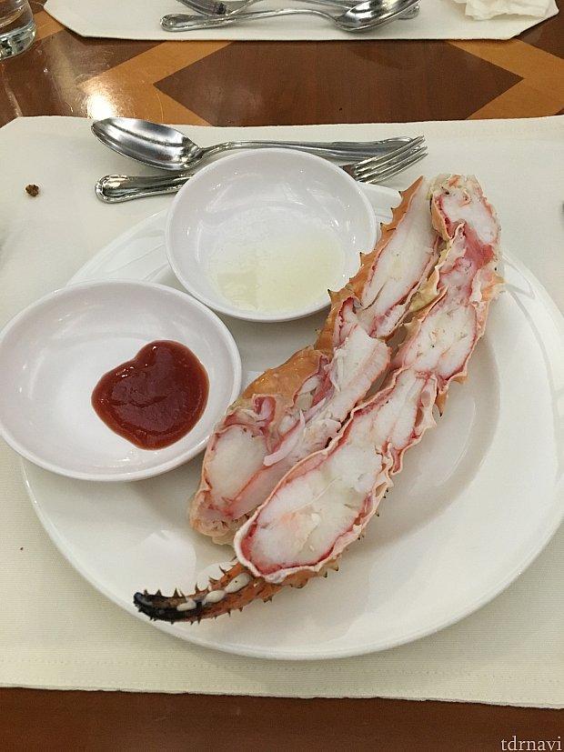 大きい蟹です(*^^*)