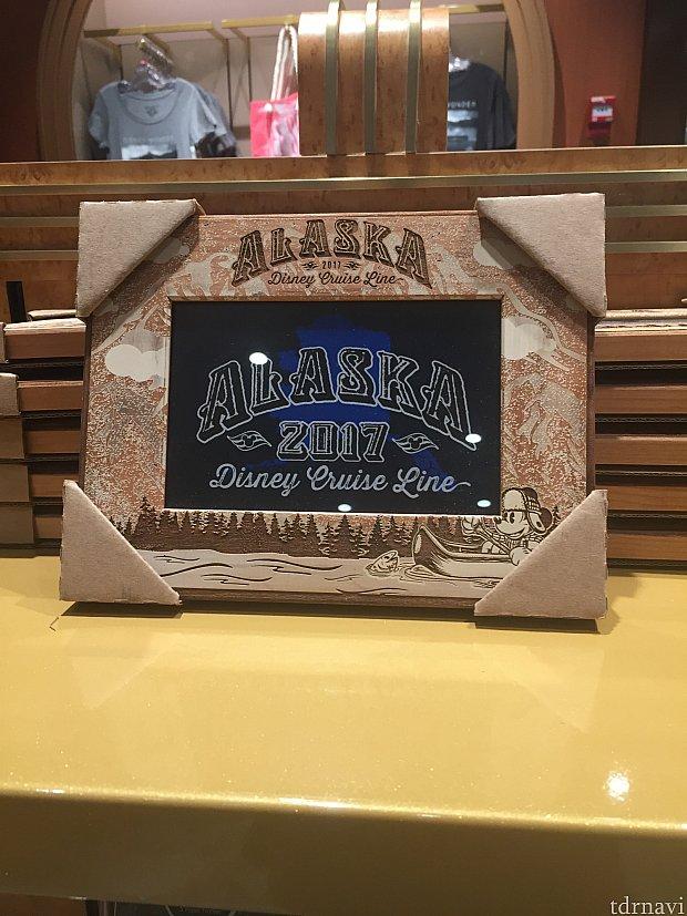 このフォトフレームもなかなか可愛い!アラスカの思い出をおさめて飾ったり、プレゼントにもいいですね。