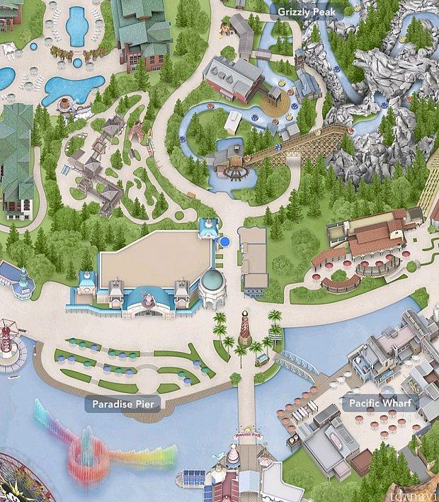 新しい発券場所はこの青丸の付近です。