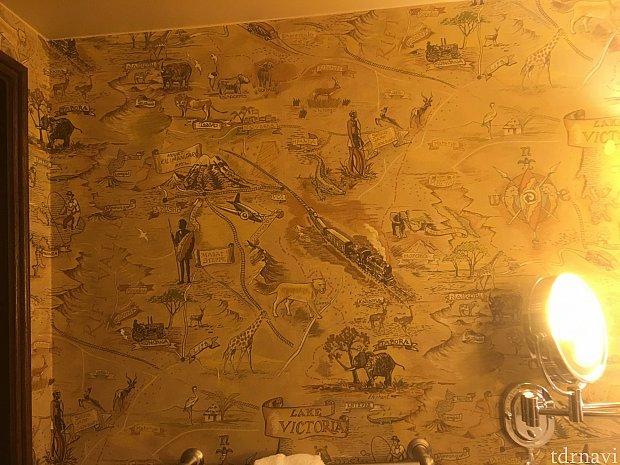 洗面所の壁紙