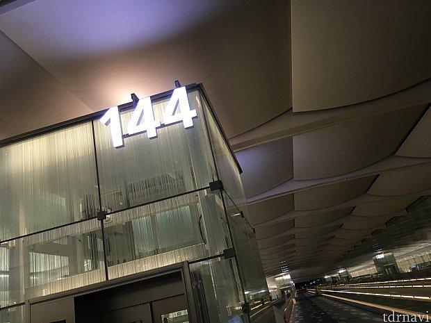 羽田空港144番ゲートから出発!