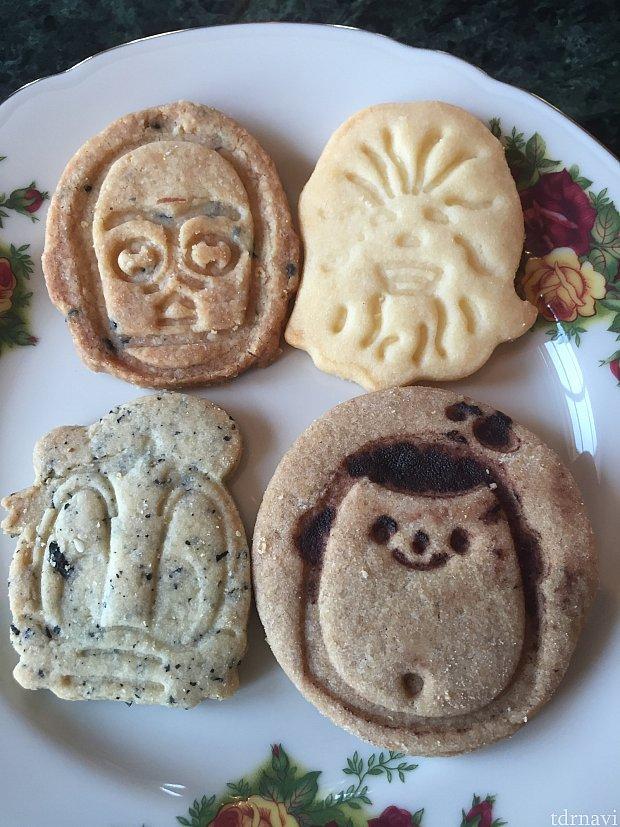 スターウォーズのイベントもしていたのでチューバッカとC-3POのクッキーも。