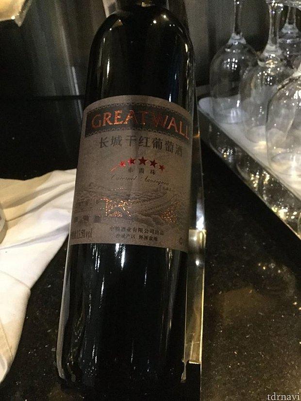 中国産と思われる赤ワイン