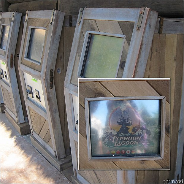 レンタルロッカーの券売機。日本語表記も選べます。大小ロッカーを選びます。たぶん、この機械で4ケタの暗証番号を設定したような。