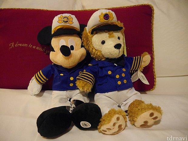船長ミッキー&ダッフィー♪