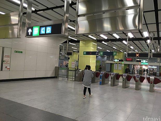 ナンチョン駅からはD出口を出ます