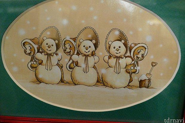 可愛いザ・サンボンネッツは自分たちの雪だるまを作ったようです。この雪だるまのコスチュームは通常ver.の彼女達の衣装です