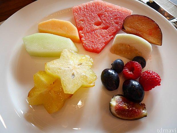 果物の種類はかなり豊富☆