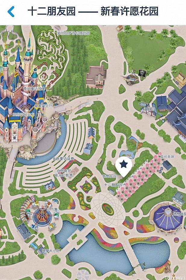 ガーデンオブイマジネーションに入ってお城を正面に見て右側になります。