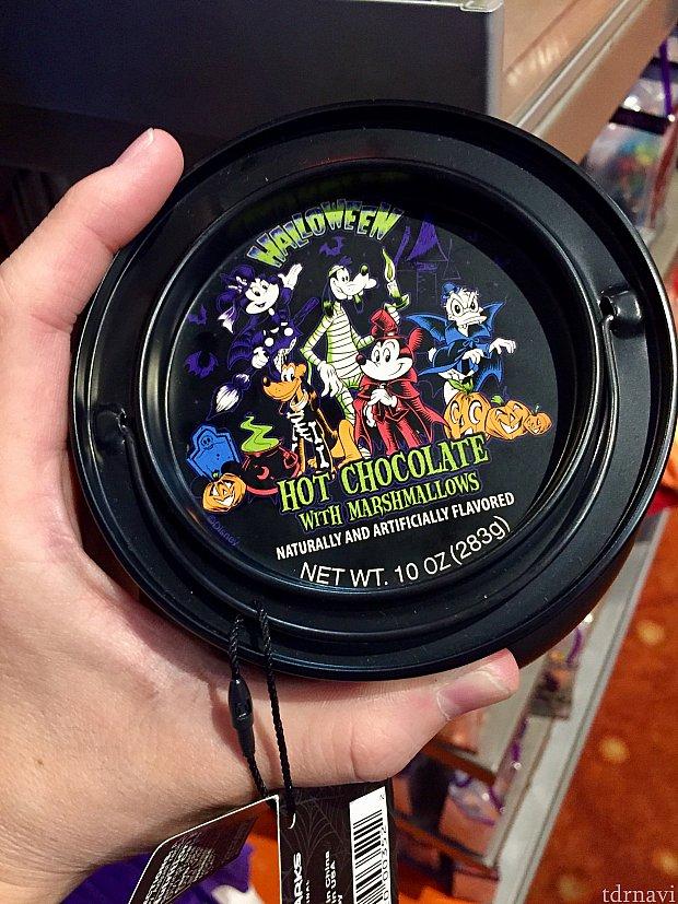これは缶入りのホットチョコレートパウダー。