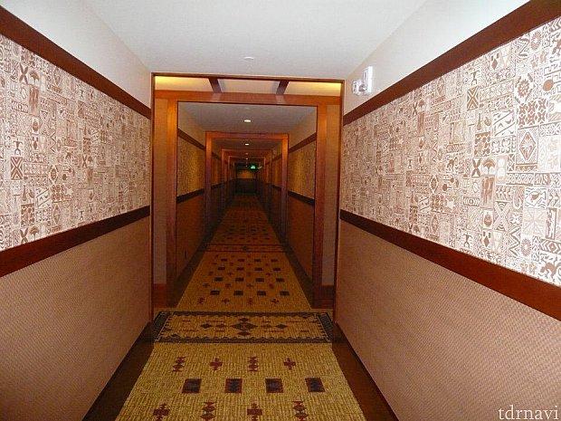 長い廊下です。