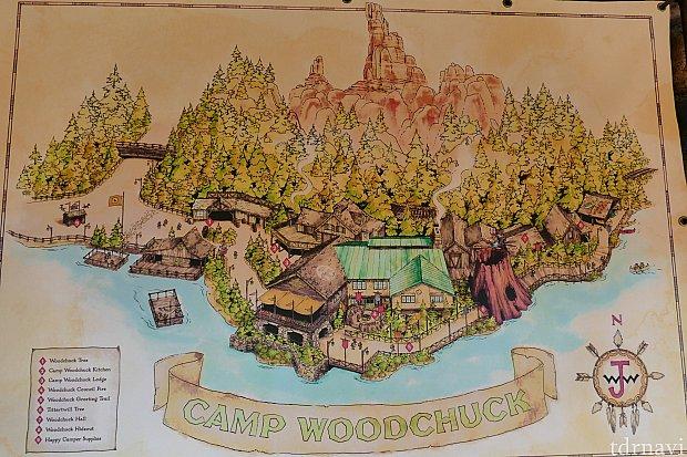キャンプ・ウッドチャックの地図