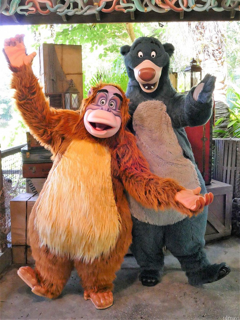 バルーとキングルーイは大人気!20分ほど待ちました(*_*)二人とも陽気で楽しそうにしていました♪