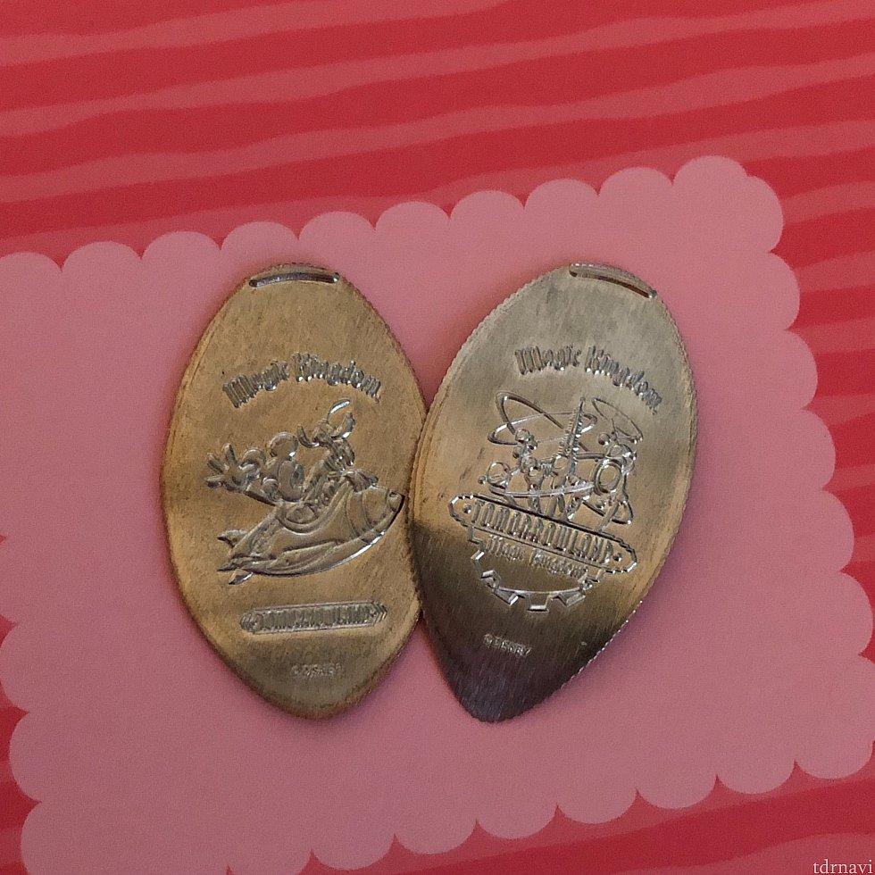 同じくMickey's Star Tradersにて。こちらはクォーター4枚必要なタイプ。サイズが大きいので1¢硬貨 ペニーで作るものより柄がはっきりしています。