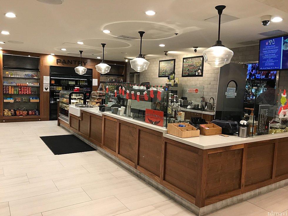 カフェ。ドリンクや軽食を売ってます。