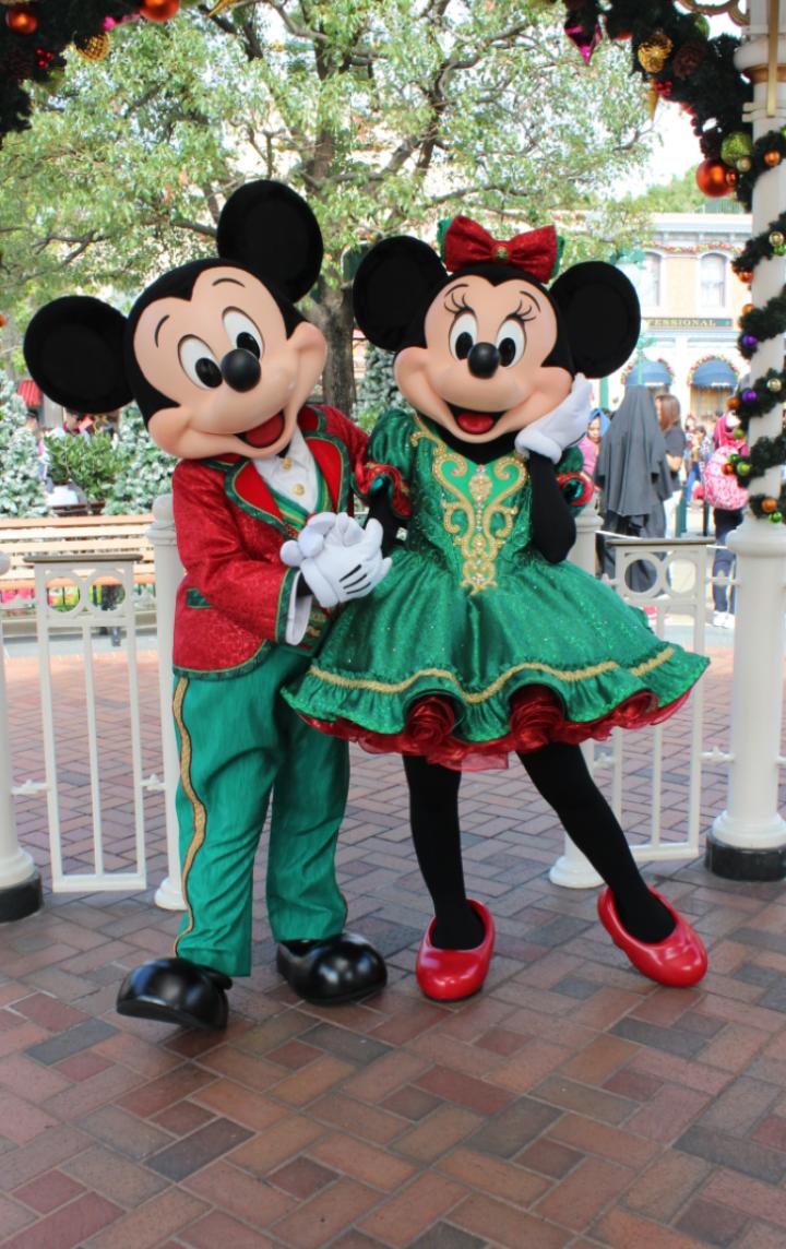 まずはミッキー&ミニー! ミニーちゃんのスカートは動く度にふわっふわっとして可愛いです💕