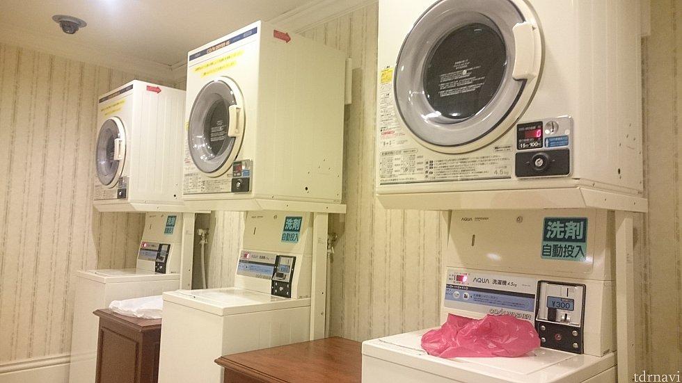 洗濯機+乾燥機が7セット 乾燥は【設定時間+5分(冷却時間)】で終わります