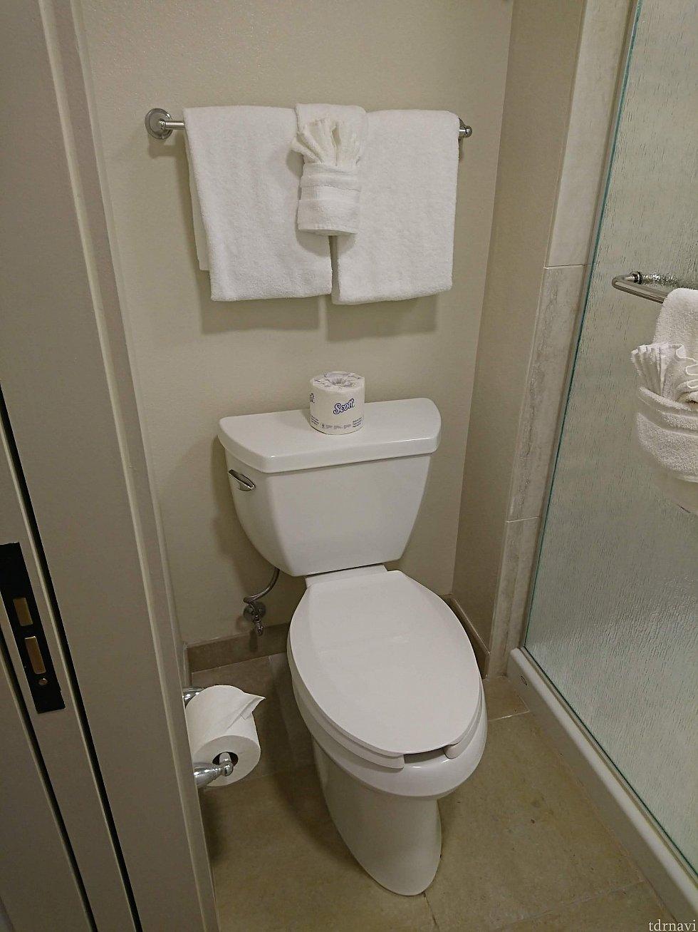 シャワールームすぐ横のお手洗い。