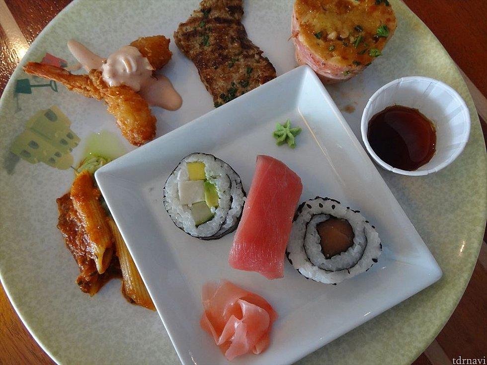 【ランチ】ナッソーに寄港した日はお寿司もありました
