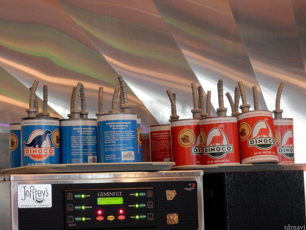 ダイナコのオイル缶型スーベニアカップ!青と赤のどちらか選べました😄