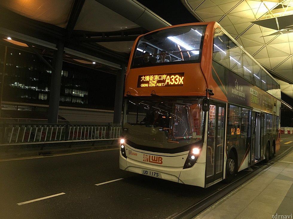 帰りは急いでいたのですぐ来たAのバスに。うまく使えば便利な気がしますが、オクトパスを持っている&香港にだいぶ慣れた人にオススメしたいかと。