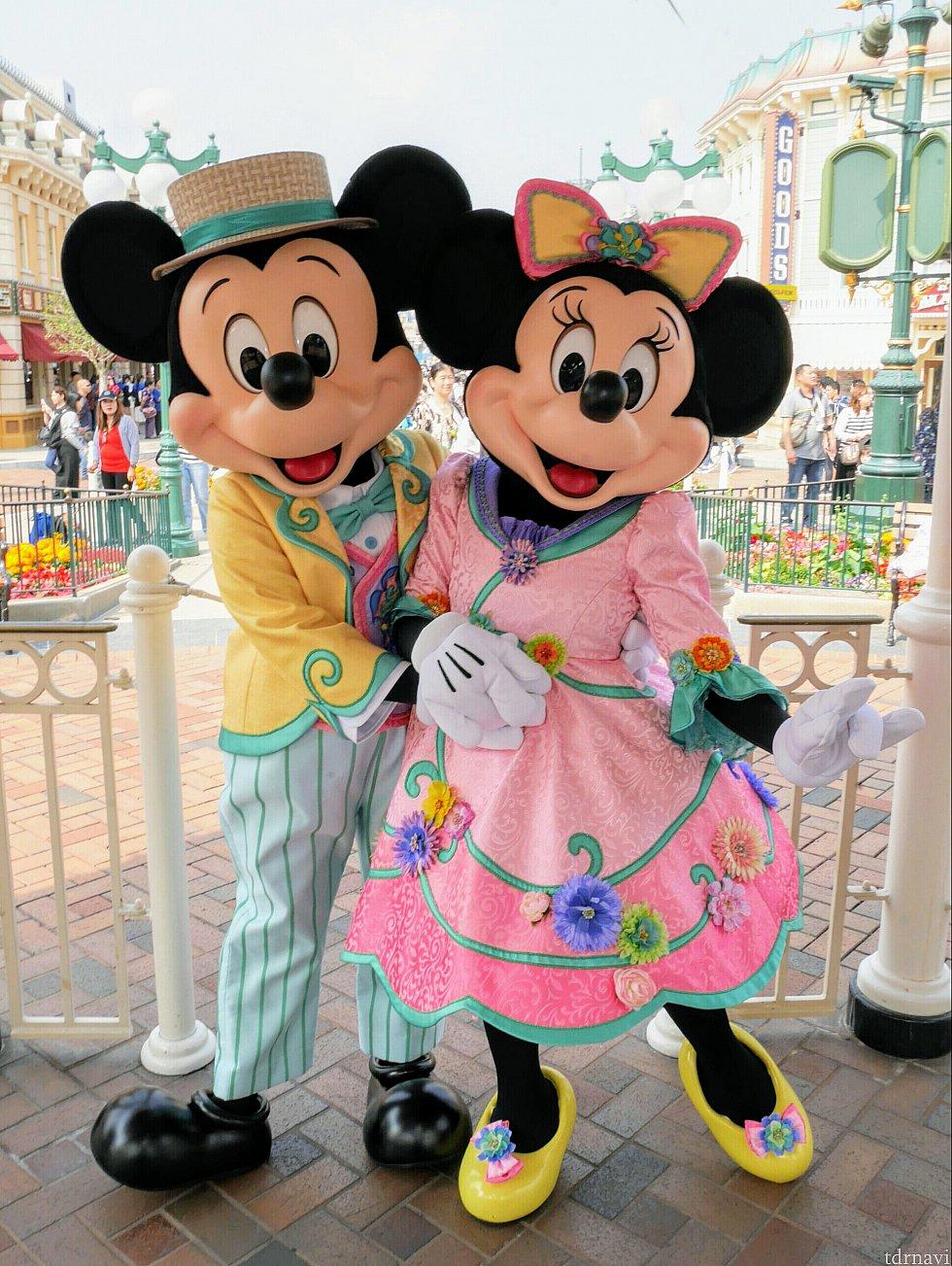 これは3月に撮影したものですが、ミッキーとミニーは今もこの衣装でした! かわいいんだけど、かわいいんだけども………アロハ姿見たかったー😅