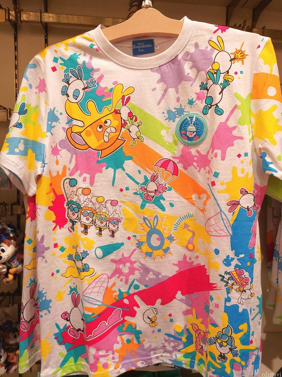 こちらも人気でした!うさたまTシャツ、サイズによってお値段が異なりますが、大人のSからLLは2,600円です。