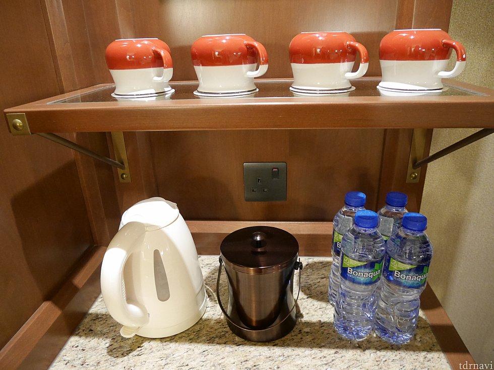 お水はこちらのホテルも4本もらえます。