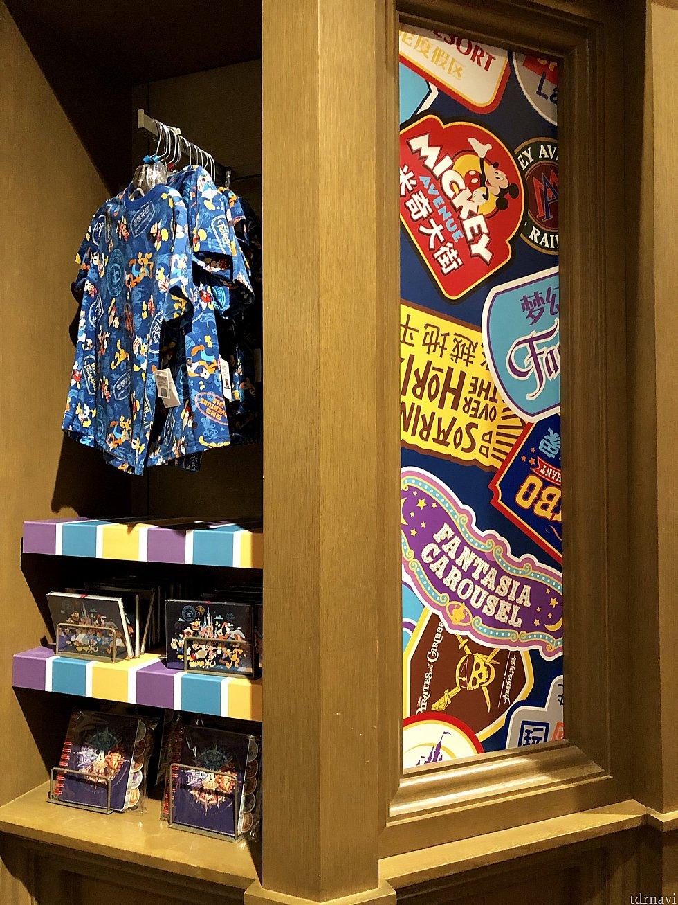 ディズニータウンも品揃え豊富でした!総柄Tシャツ 159元
