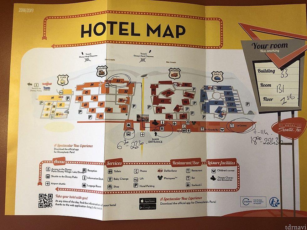 ホテルマップはこんな感じです!