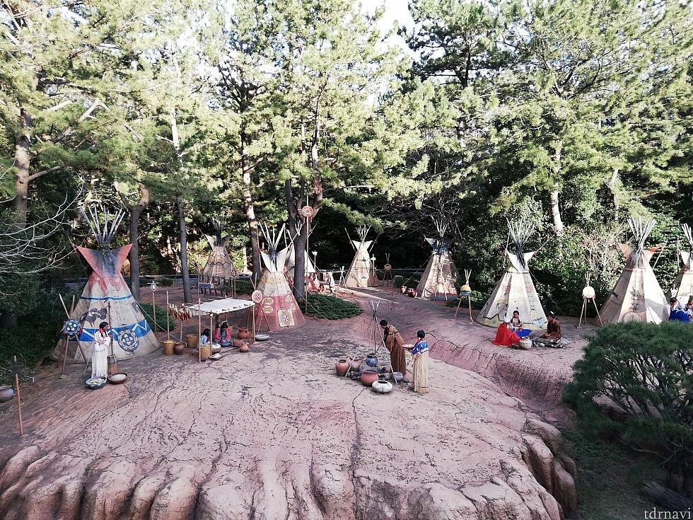 インディアンのキャンプ