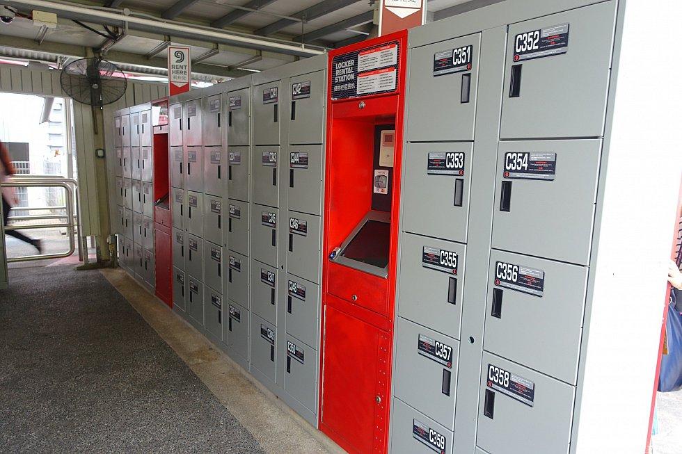 レンタルロッカーは大量にあります。
