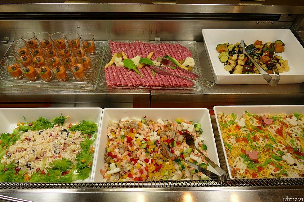 ムースやマリネ、ちらし寿司、サラダ系。この辺はちょっと変化してました!