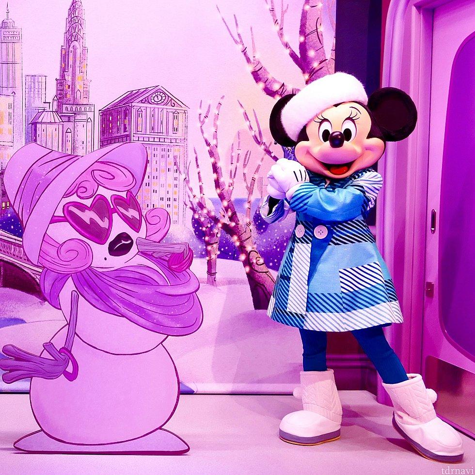 雪の精霊?女神?オーラが凄かったです<br> もう可愛すぎて可愛すぎて・・・<br> 冬限定のコーディネート本当に可愛い・・・・