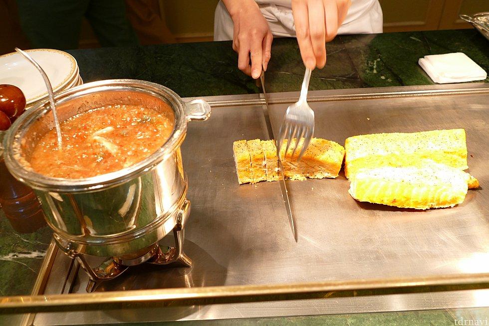 メカジキのヴィエノワーズ! いつもはお肉料理のメインも今回はお魚に!!! これがとってもおすすめの一品!