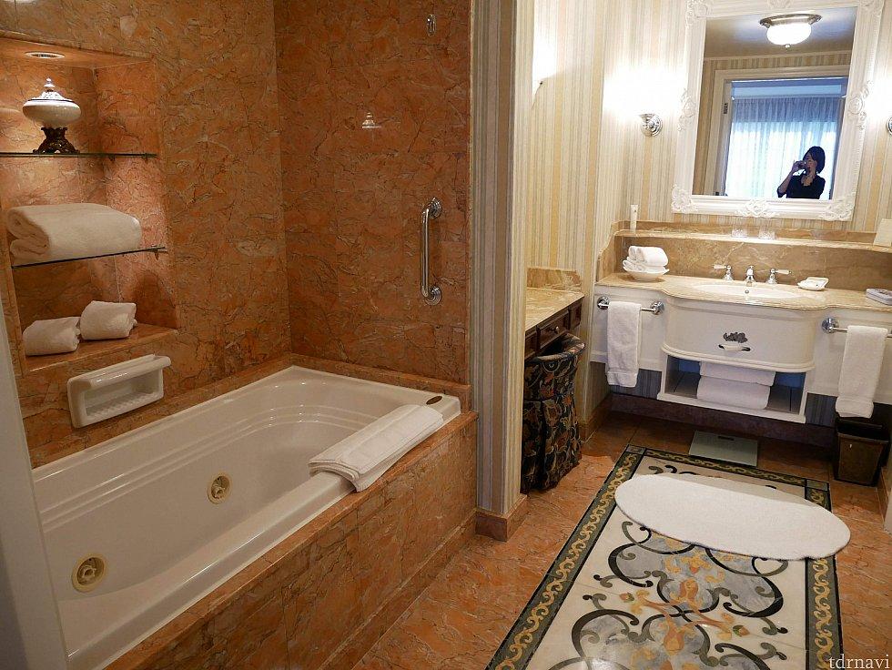 バスルーム広い!